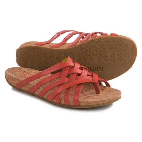 Ahnu Maia Sandals - Leather (For Women) in Red Stone