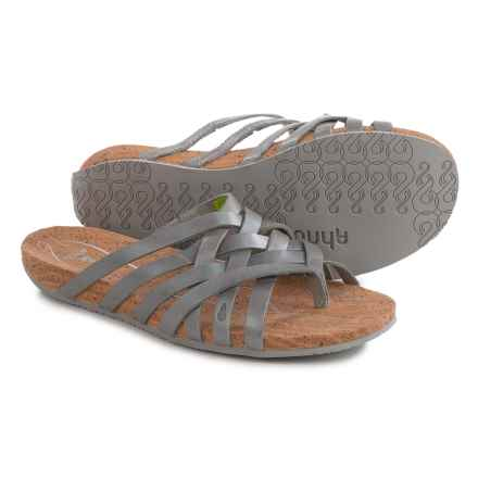 Ahnu Maia Sandals - Leather (For Women) in Silver - Closeouts
