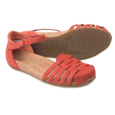 Ahnu Malini Sandals - Nubuck (For Women) in Red Stone - Closeouts