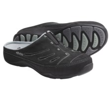 Ahnu Marina Clogs - Nubuck (For Women) in Black - Closeouts