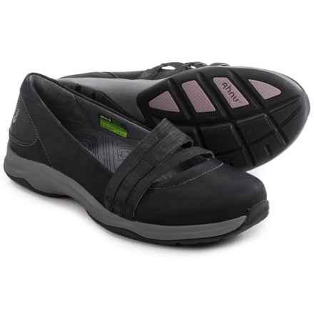 Ahnu Merritt Shoes - Nubuck, Slip-Ons (For Women) in Black - Closeouts