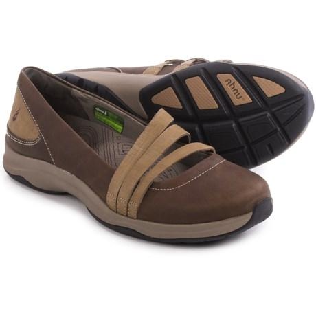 Ahnu Merritt Shoes - Nubuck, Slip-Ons (For Women) in Saharah