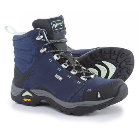 Ahnu Montara Hiking Boots - Waterproof (For Women) in Midnight Blue