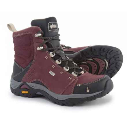 Ahnu Montara Hiking Boots - Waterproof (For Women) in Red Mahogany - Closeouts