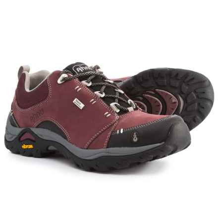 Ahnu Montara II Hiking Shoes - Waterproof, Leather (For Women) in Mission Fig - Closeouts