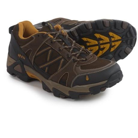 Ahnu Moraga Mesh Trail Shoes (For Men) in Smokey Brown