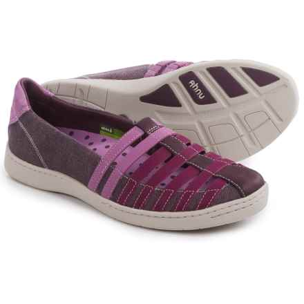 Ahnu North Point Shoes - Leather (For Women) in Dark Plum - Closeouts