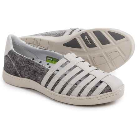 Ahnu North Point Shoes - Leather (For Women) in Grey Salt - Closeouts