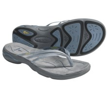 Ahnu Olema Sandals - Leather, Flip-Flops (For Women) in Dusty Blue - Closeouts