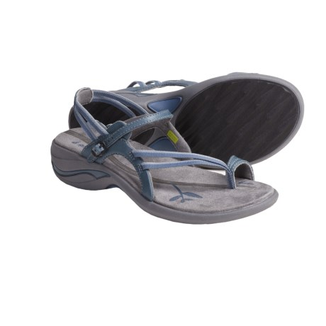 Ahnu Pacheco Leather Webbing Sandals (For Women) in Real Teal