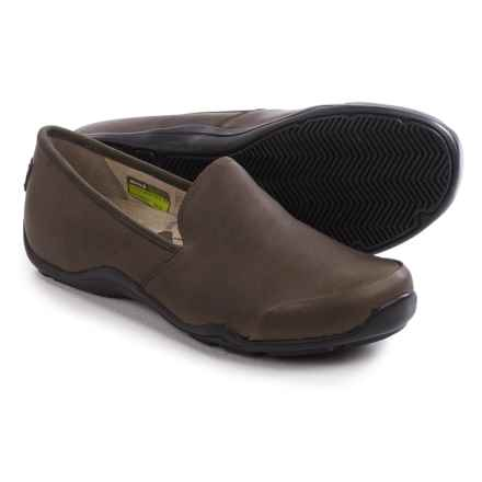 Ahnu Penny Pro Shoes - Leather, Slip-Ons (For Women) in Walnut - Closeouts