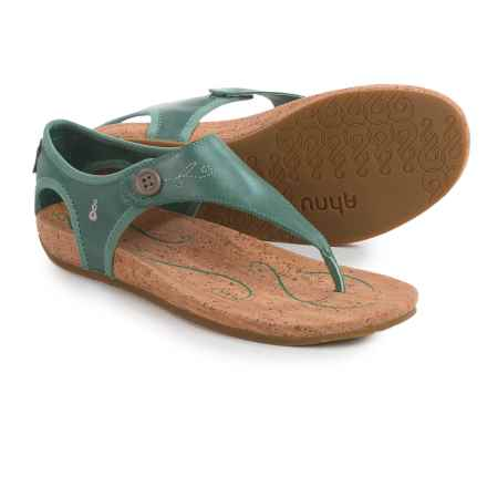 Ahnu Serena Sandals - Leather (For Women) in Dusty Teal - Closeouts