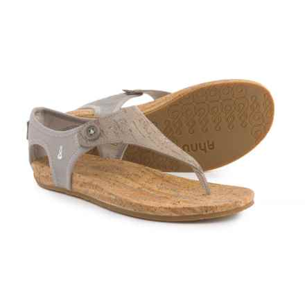 Ahnu Serena Sandals - Leather (For Women) in Mesa Taupe - Closeouts