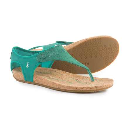 Ahnu Serena Sandals - Leather (For Women) in Oasis Teal - Closeouts