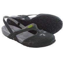 Ahnu Shoka Sling-Back Sandals - Leather (For Women) in Black - Closeouts