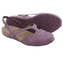 Ahnu Shoka Sling-Back Sandals - Leather (For Women) in Eggplant - Closeouts