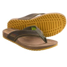 Ahnu Simeon Flip-Flop Sandals (For Men) in Olive Night - Closeouts
