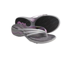 Ahnu Sonoma Thong Sandals - Leather (For Women) in Violet - Closeouts