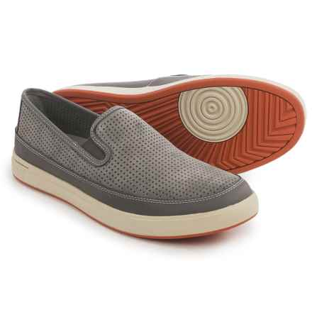 Ahnu Steiner Suede Sneakers - Slip-Ons (For Men) in Smoke Charcoal - Closeouts