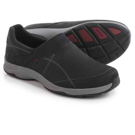 Ahnu Taraval Leather Shoes - Waterproof, Slip-Ons (For Women) in Black - Closeouts