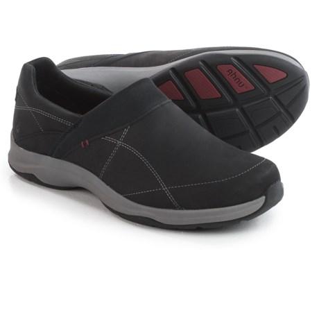 Ahnu Taraval Leather Shoes - Waterproof, Slip-Ons (For Women) in Black