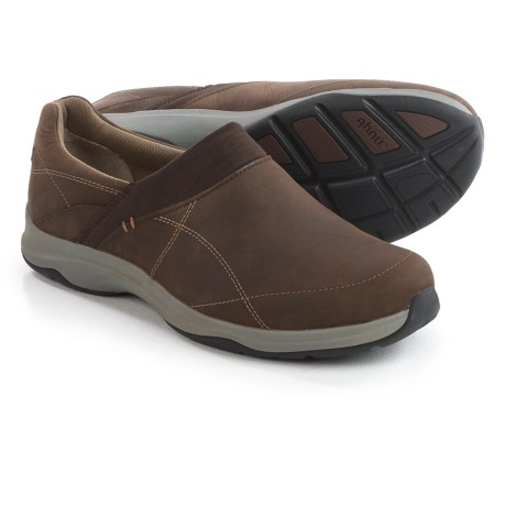 Ahnu Taraval Leather Shoes - Waterproof, Slip-Ons (For Women) in Porter
