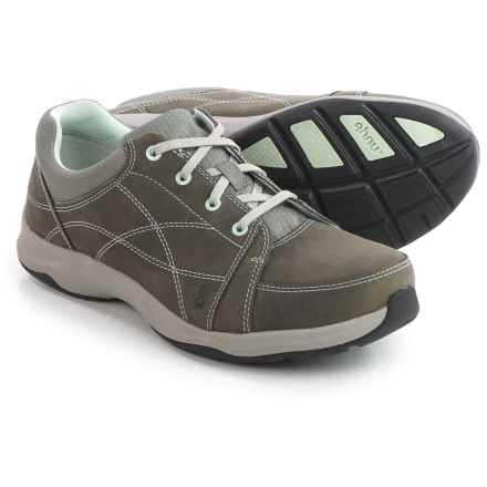 Ahnu Taraval Sneakers - Leather (For Women) in Charcoal Grey - Closeouts