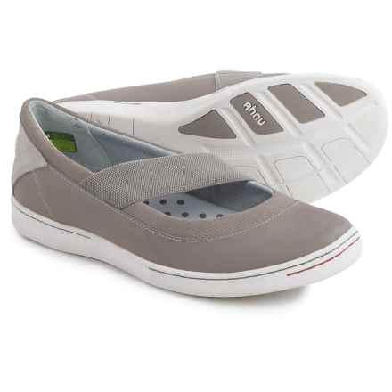 Ahnu Telegraph Leather Flats - Slip-On (For Women) in Mesa Taupe - Closeouts