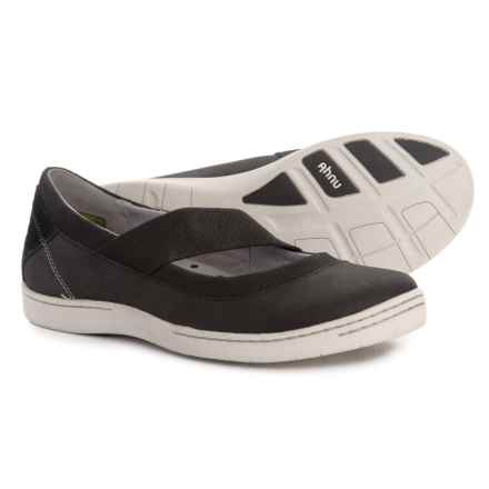 Ahnu Telegraph Leather Mary Jane Shoes - Slip-Ons (For Women) in New Black - Closeouts