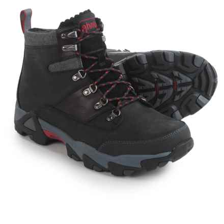 Ahnu Thinsulate® Orion Leather Winter Boots - Waterproof, Insulated (For Men) in Black - Closeouts