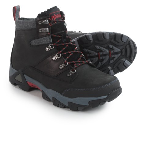 Ahnu Thinsulate® Orion Leather Winter Boots - Waterproof, Insulated (For Men) in Black