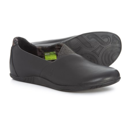 Ahnu Tola Leather Shoes - Slip-Ons (For Women) in Black 538d4ac3c45