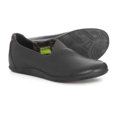 20d97bf8e2a Ahnu Tola Leather Shoes - Slip-Ons (For Women) in Black