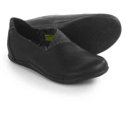 Ahnu Tola Shoes - Leather, Slip-Ons (For Women) in Black - Closeouts