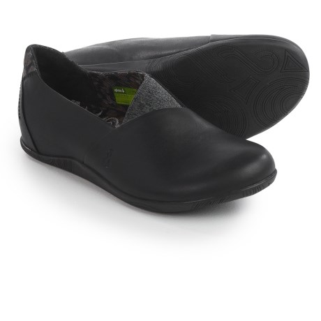 Ahnu Tola Shoes - Leather, Slip-Ons (For Women) in Black