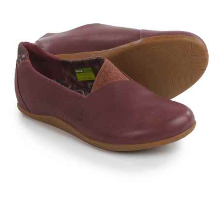Ahnu Tola Shoes - Leather, Slip-Ons (For Women) in Merlot - Closeouts
