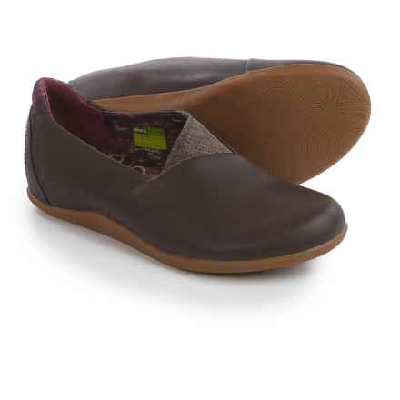 Ahnu Tola Shoes - Leather, Slip-Ons (For Women) in Porter - Closeouts