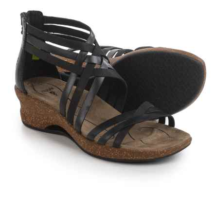 Ahnu Trolley Sandals - Leather (For Women) in Black - Closeouts