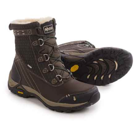 Ahnu Twain Harte Snow Boots - Waterproof, Insulated, Leather (For Women) in Mulch - Closeouts