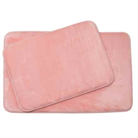 Aiden Albany Memory-Foam Bath Mats - 2-Pack, Blush in Blush - Closeouts
