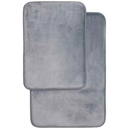Aiden Albany Memory-Foam Bath Mats - 2-Pack, Charcoal in Charcoal - Closeouts