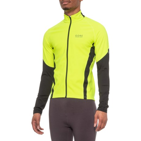 Air Windstopper(R) Shirt - Full Zip, Long Sleeve (For Men) - NEON YELLOW/BLACK (2XL ) thumbnail