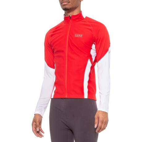 Air Windstopper(R) Shirt - Full Zip, Long Sleeve (For Men) - RED/WHITE (XL ) thumbnail