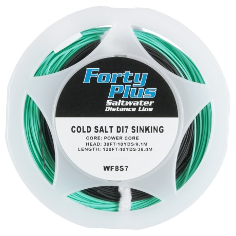 Airflo 40+ Striper/Cold Saltwater Super Sink 7 Fly Line - 40 yds., Weight Forward, Sinking in Black/Aqua