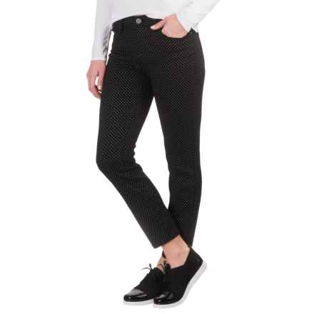 AJ Andrea Jovine Stretch Twill Ankle Jeans (For Women) in Black/White Dots - Closeouts