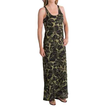 AJ Andrea Jovine Tropical Floral Maxi Dress - Cotton, Sleeveless (For Women) in Tropical Floral - Closeouts