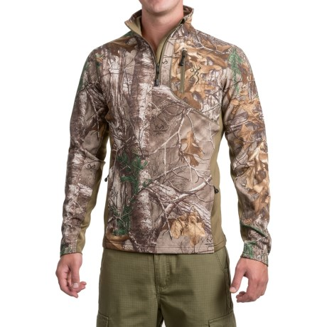 Ajax Fleece Shirt - Zip Neck, Long Sleeve (For Men and Big Men) - REALTREE XTRA (S ) thumbnail