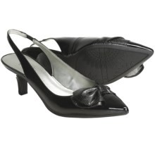 AK Anne Klein Dalton Sling-Back Pumps (For Women) in Black Patent - Closeouts
