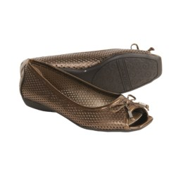 AK Anne Klein Sport Illusion Mesh Shoes - Leather, Flats (For Women) in Dk Bronze