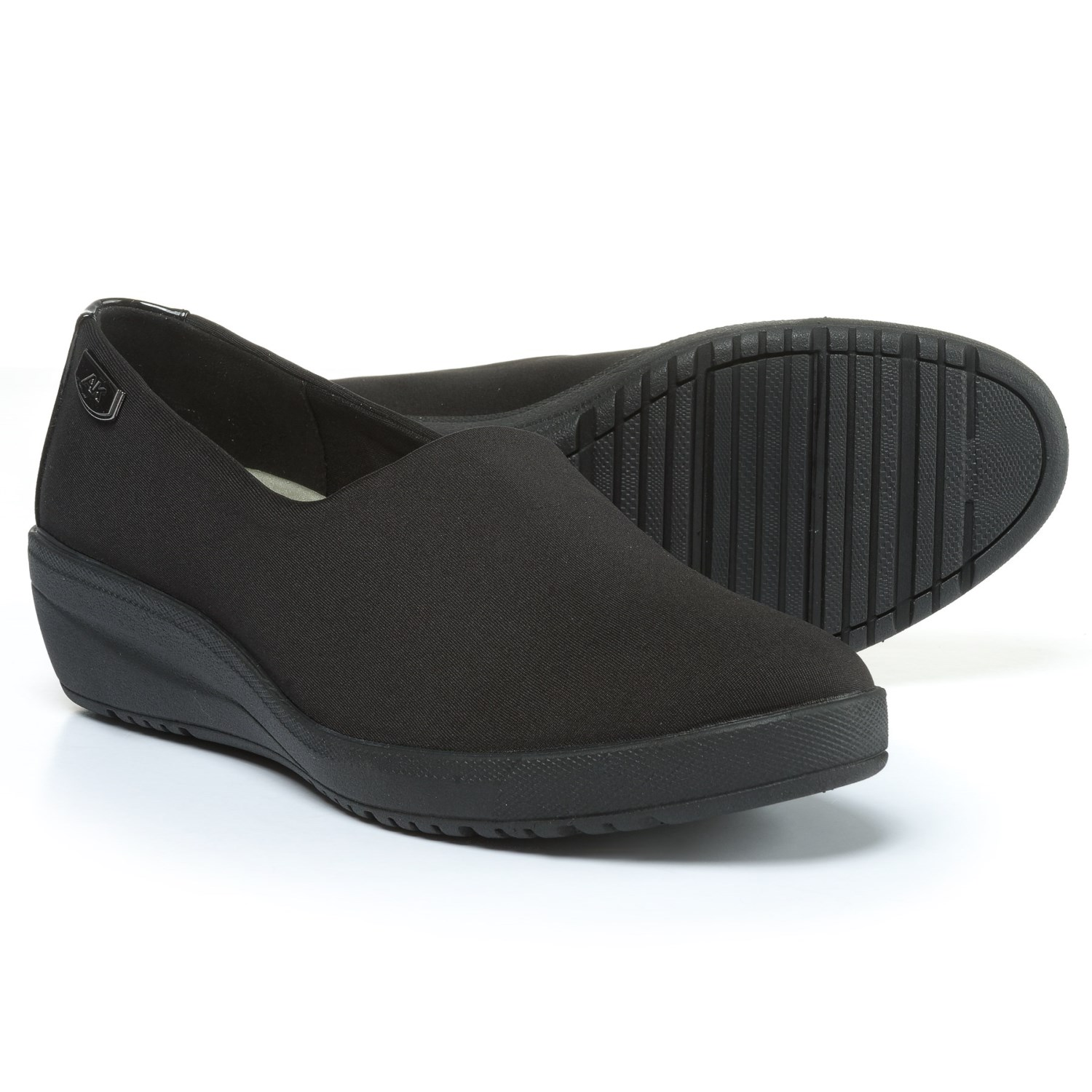 These shoes are really nice as as expected from LifeStride, very comfortable. I like the cork covered wedge, which to me allows these to be dressed up a bit more than traditional espadrilles.